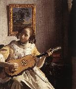 Jan Vermeer The Guitar Player oil painting picture wholesale