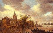 Jan van  Goyen A Church and a Farm on the Bank of a River oil