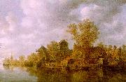 Jan van  Goyen River Landscape oil