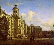 Jan van der Heyden The Dam with the New Town Hall oil painting artist