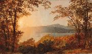 Jasper Cropsey Sunset, Hudson River oil painting picture wholesale
