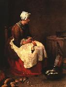 Jean Baptiste Simeon Chardin Girl Peeling Vegetables oil painting picture wholesale