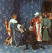Jean Fouquet Bertrand with the Sword of the Constable of France oil