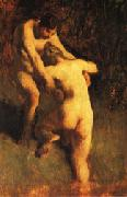 Jean Francois Millet Two Bathers oil painting picture wholesale
