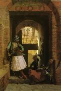 Jean Leon Gerome Arnauts of Cairo at the Gate of Bab-el-Nasr oil painting picture wholesale