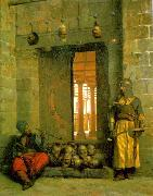 Jean Leon Gerome Heads of the Rebel Beys at the Mosque of El Hasanein oil painting picture wholesale
