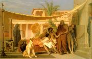 Jean Leon Gerome Socrates Seeking Alcibiades in the House of Aspasia oil painting picture wholesale