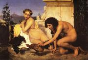 Jean Leon Gerome Young Greeks at a Cockfight oil painting picture wholesale