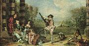 Jean-Antoine Watteau Mezzetin oil painting picture wholesale