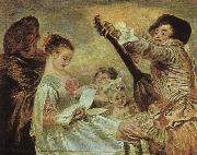 Jean-Antoine Watteau The Music Lesson oil painting picture wholesale
