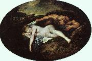 Jean-Antoine Watteau Jupiter and Antiope Sweden oil painting reproduction