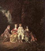 Jean-Antoine Watteau Pierrot Content oil painting picture wholesale