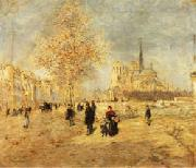 Jean-Francois Raffaelli Notre-Dame de Paris oil painting picture wholesale