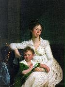 Jens Juel Portrait of a Noblewoman with her Son oil painting artist