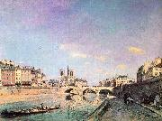 Johann Barthold Jongkind The Seine and Notre Dame in Paris oil painting artist