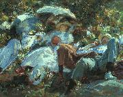 John Singer Sargent Group with Parasols oil painting picture wholesale