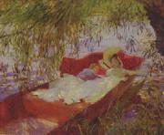 John Singer Sargent Two Women Asleep in a Punt under the Willows oil painting picture wholesale