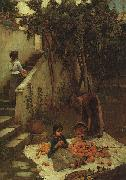 John William Waterhouse The Orange Gatherers oil painting picture wholesale