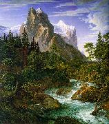 Joseph Anton Koch The Wetterhorn with the Reichenbachtal oil painting artist