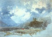 Joseph Mallord William Turner Dolbadern Castle oil painting artist
