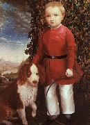 Joseph Whiting Stock Portrait of a Boy with a Dog oil painting picture wholesale