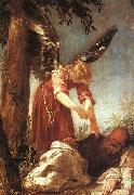 Juan Antonio Escalante An Angel Awakens the Prophet Elijah oil painting artist