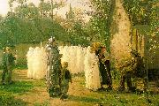 Jules Breton The Communicants oil painting picture wholesale
