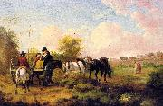 Julius Caesar Ibbetson Going to Market oil painting artist