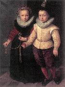 KETEL, Cornelis Double Portrait of a Brother and Sister sg oil painting artist