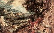KEUNINCK, Kerstiaen Landscape with Acteon and Diana ag oil painting artist