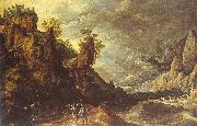 Kerstiaen de Keuninck Landscape with Tobias and the Angel oil painting artist