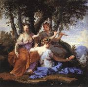 LE SUEUR, Eustache The Muses: Melpomene, Erato and Polymnia sf oil painting artist