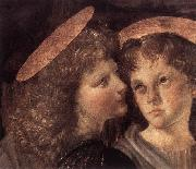 LEONARDO da Vinci The Baptism of Christ (detail) sg oil painting artist
