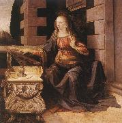 LEONARDO da Vinci Annunciation (detail) sg77 oil painting artist