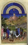 LIMBOURG brothers Les trs riches heures du Duc de Berry: Aout (August) sg oil painting picture wholesale