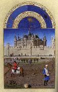 LIMBOURG brothers Les trs riches heures du Duc de Berry: Octobre (October) oil painting picture wholesale