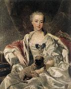 LOO, Louis Michel van Portrait of Catherina Golitsyna s oil painting artist