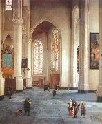 LORME, Anthonie de Interior of the St Laurenskerk in Rotterdam g oil painting artist