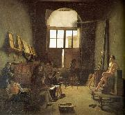 Leon-Matthieu Cochereau Interior of the Studio of David oil painting picture wholesale