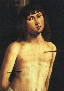 Lorenzo  Costa Saint Sebastian Sweden oil painting reproduction
