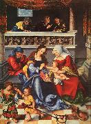 Lucas  Cranach The Holy Family oil painting picture wholesale