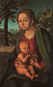 Lucas  Cranach The Madonna with the Bunch of Grapes oil painting picture wholesale