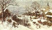 Lucas Van Valkenborch Winter oil painting artist