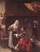 MIERIS, Frans van, the Elder Brothel Scene ruu oil painting picture wholesale