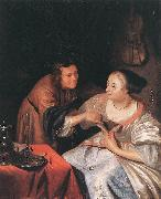 MIERIS, Frans van, the Elder Carousing Couple sg oil painting picture wholesale