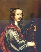 MIJTENS, Jan Lady Playing the Lute stg oil painting artist