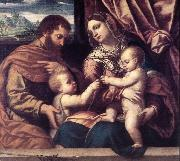 MORETTO da Brescia Holy Family su oil painting picture wholesale