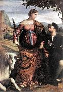 MORETTO da Brescia St Justina with the Unicorn sg oil painting picture wholesale