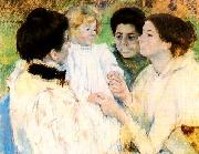 Mary Cassatt Women Admiring a Child Sweden oil painting reproduction