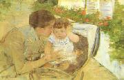 Mary Cassatt Susan Comforting the Baby Sweden oil painting reproduction